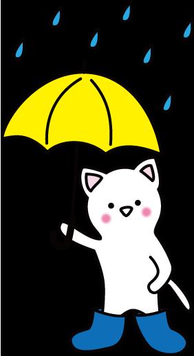雨の日、傘、長靴