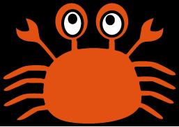 蟹(かに)のイラスト