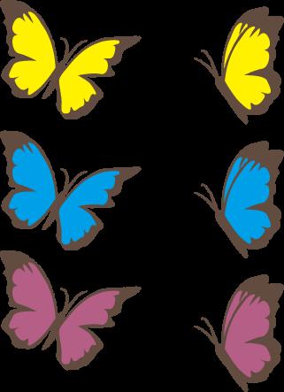 蝶(ちょうちょう)のイラスト