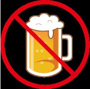 アルコール(ビール)飲酒禁止マーク