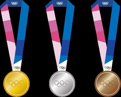 金銀銅3色のオリンピックメダル