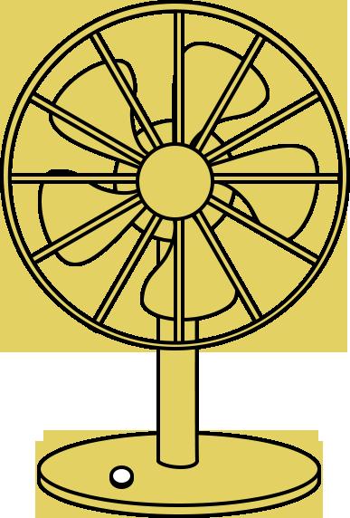 レトロ扇風機のイラスト