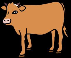 あか牛のイラスト
