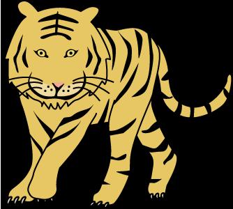 虎(トラ・タイガー)のイラスト