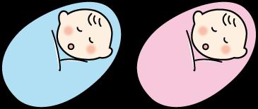 赤ちゃんおくるみのイラスト