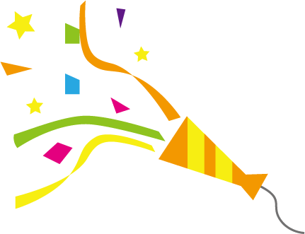 クラッカー(お祝い・パーティー・イベント)のイラスト