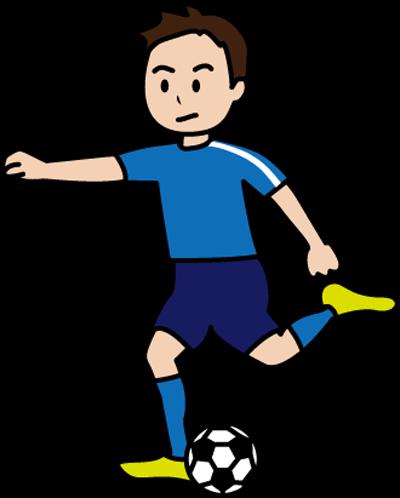 サッカーをする男性のイラスト