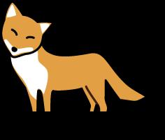キツネ目の狐のイラスト